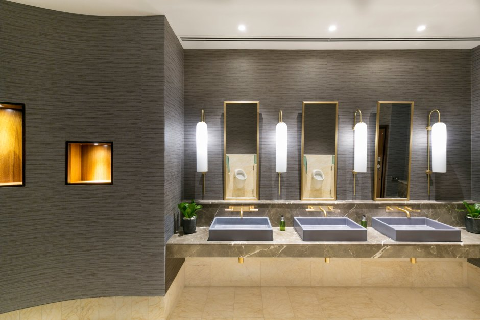 Public Area Bathrooms with Custom Made Basins